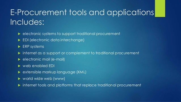 Procurment Data Acquisition Principles : E procurement