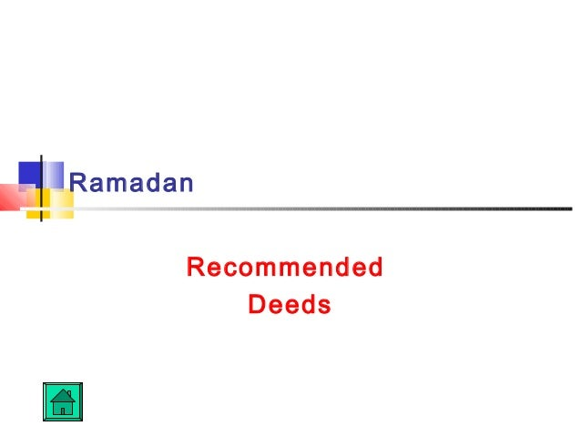 RamadanRecommendedDeeds
