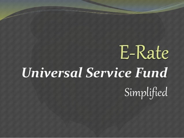 Universal Service Fund Simplified
