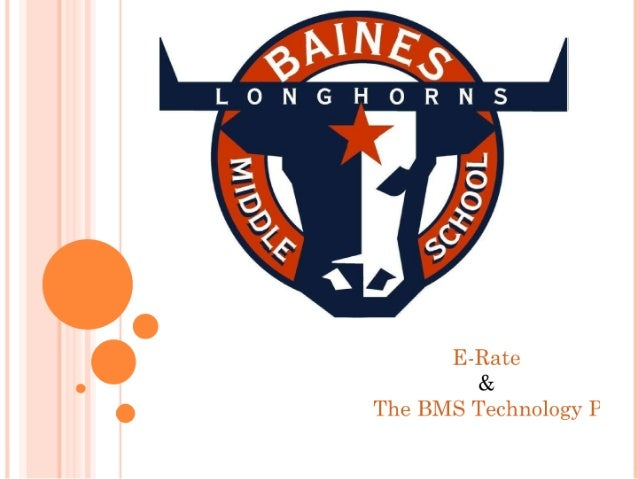 E rate and the bms technology plan