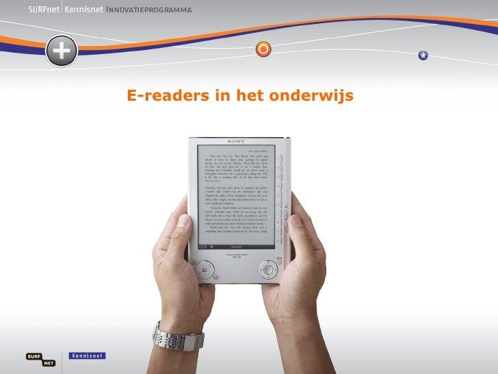 E-readers in het onderwijs