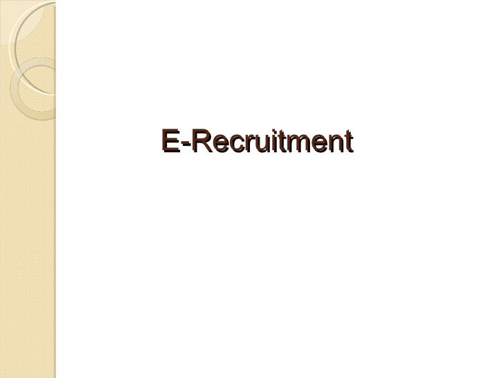 E-Recruitment