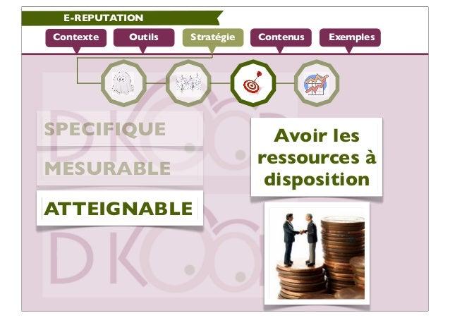 E-REPUTATIONContexte   Outils   Stratégie   Contenus   ExemplesSPECIFIQUE                        Avoir les                ...
