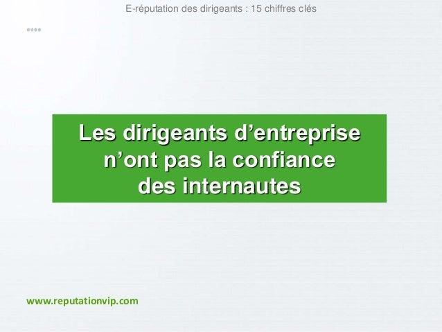 E-réputation des dirigeants : 15 chiffres clés  Les dirigeants d'entreprise  n'ont pas la confiance  des internautes  www....