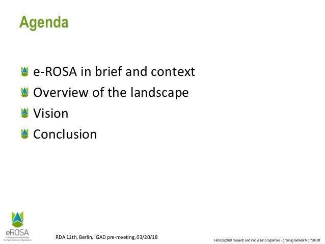 E-infrastructure for open agri-food sciences: Vision & Roadmap Slide 2