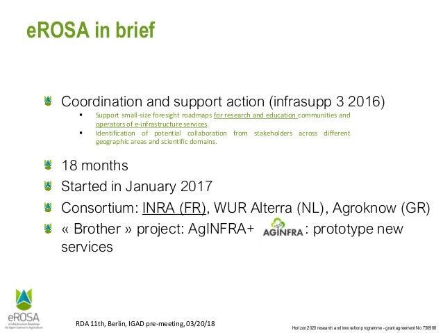 E-infrastructure for open agri-food sciences: Vision & Roadmap Slide 3