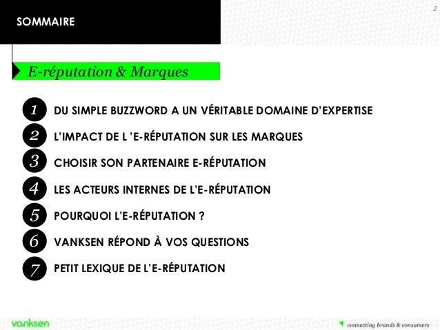 E-réputation et marques : état de l'art et enjeux - by Vanksen Slide 2