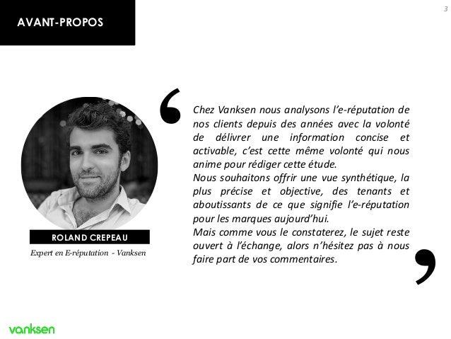 E-réputation et marques : état de l'art et enjeux - by Vanksen Slide 3