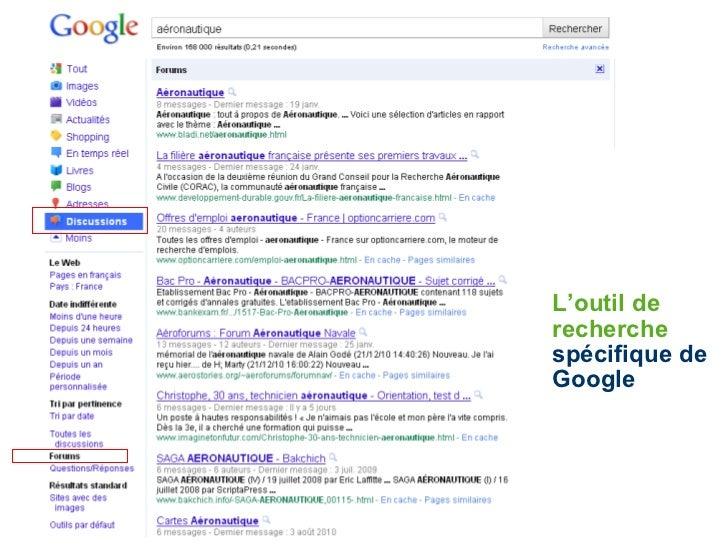 L'outil de recherche  spécifique de Google