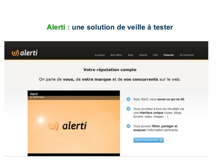 Alerti :  une solution de veille à tester