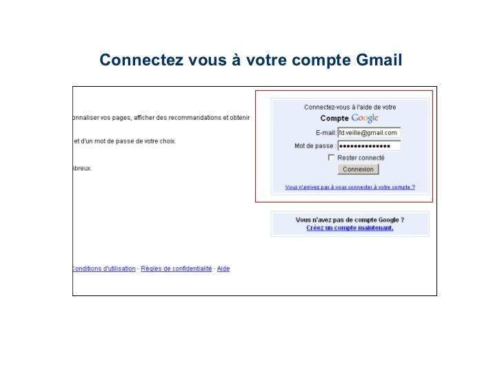 Connectez vous à votre compte Gmail