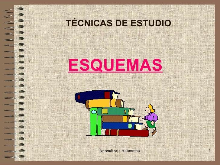 TÉCNICAS DE ESTUDIO ESQUEMAS