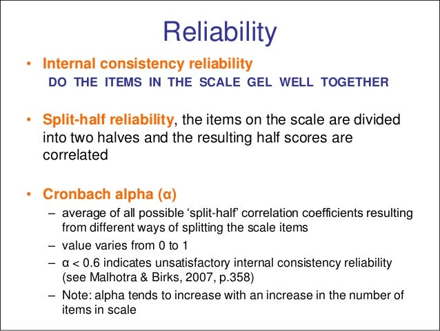 Reliability, validity, generalizability and the use of multi-item sca…