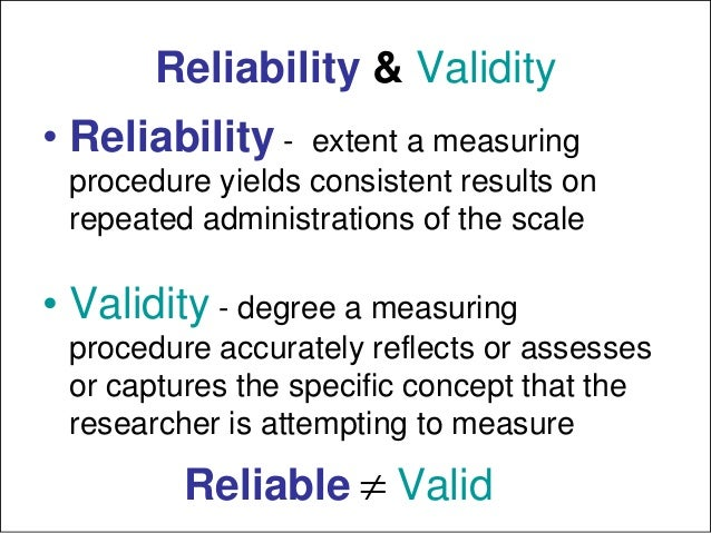 reliability and validity definition in research pdf