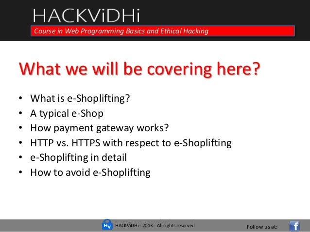 E-Shoplifting - Hacking E-Commerce Website! | HACKViDHi web