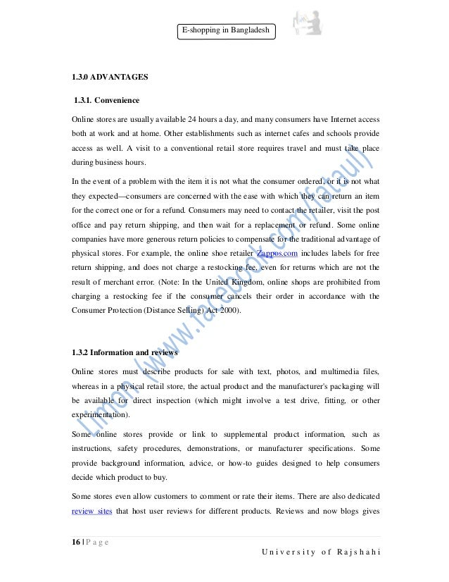 Research paper on E-Shopping in Bangladesh