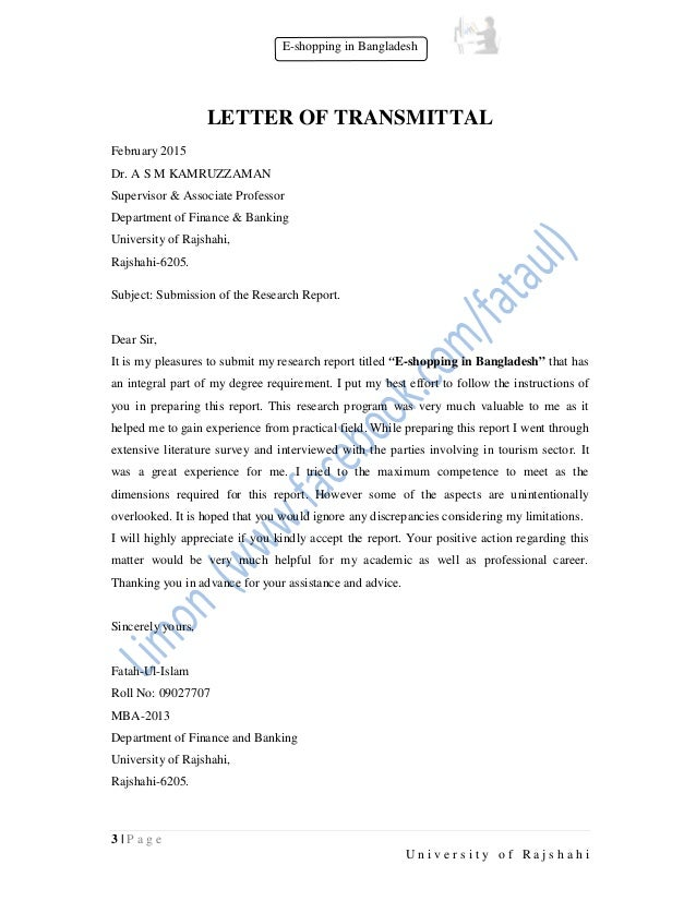 letter of transmittal for research paper how to a research paper - Mini.mfagency.co