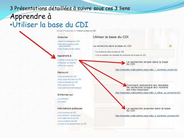 Bonnes recherches au C.D.I. !  Diaporama réalisé par Catherine Maître et François Vallejo,  Lycée Aristide Briand, Gap