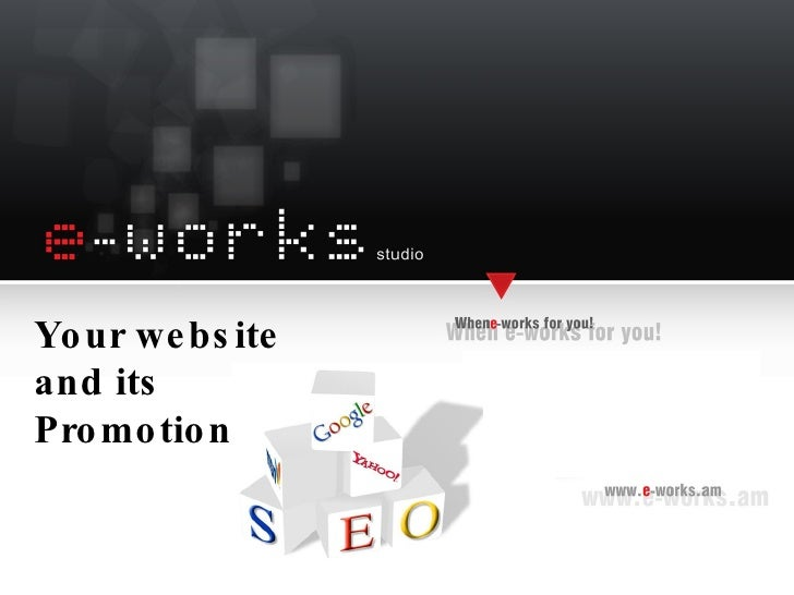 Your website and its Promotion