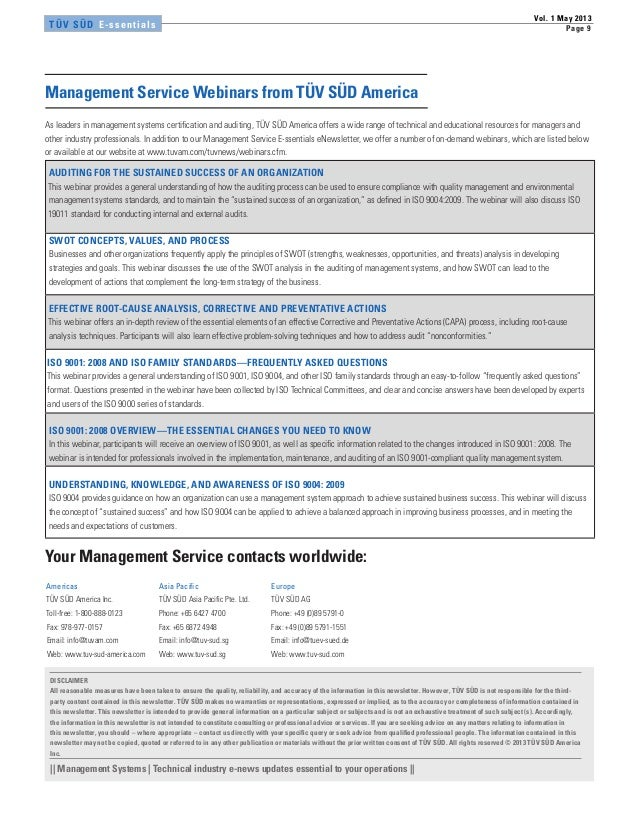 Management Service E-ssentials Vol1 05/2013
