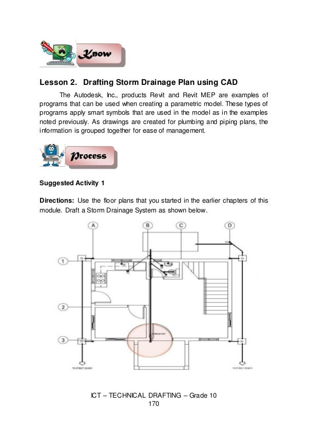 Technical Drafting Module 6 – Plumbing Lesson Plans