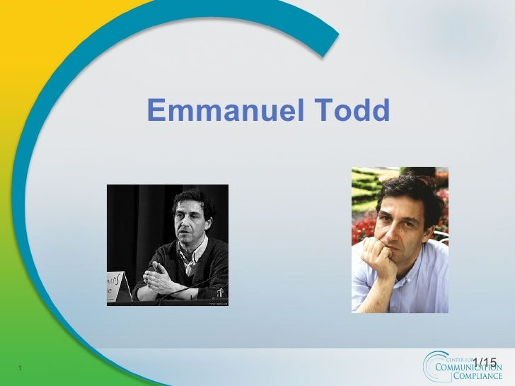 Emmanuel Todd 1/15