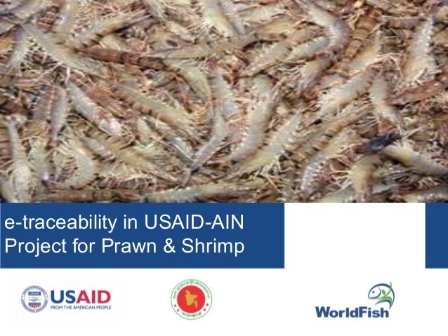 e-traceability in USAID-AIN Project for Prawn & Shrimp