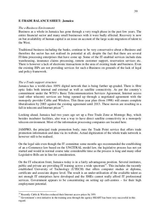 Regional E-Trade Report for the Caribbean Community