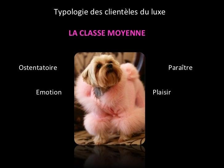 LA CLASSE MOYENNE <ul><ul><ul><li>Ostentatoire </li></ul></ul></ul><ul><ul><ul><li>Emotion </li></ul></ul></ul><ul><ul><ul...