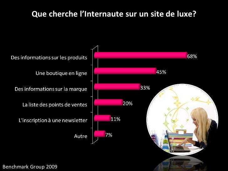 Que cherche l'Internaute sur un site de luxe? Benchmark Group 2009