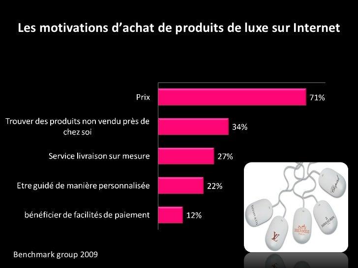 Les motivations d'achat de produits de luxe sur Internet Benchmark   group 2009