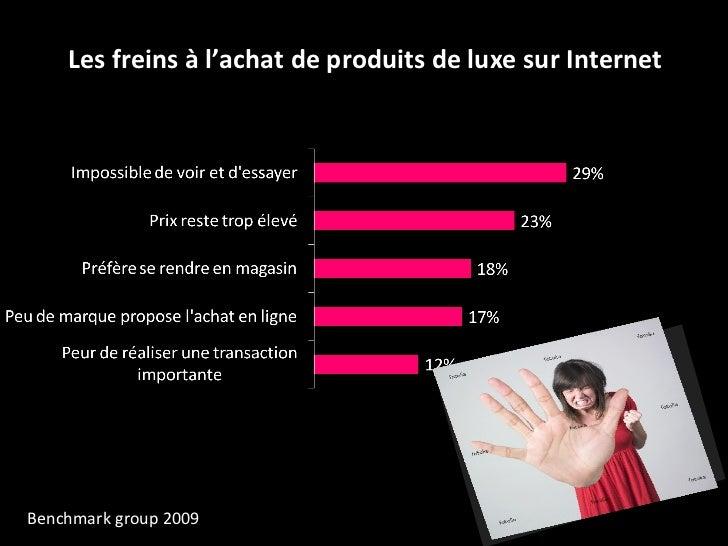 Les freins à l'achat de produits de luxe sur Internet Benchmark group 2009