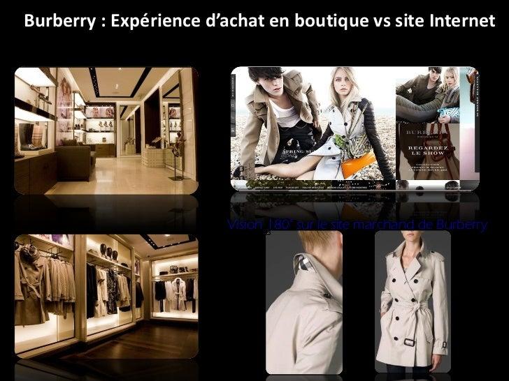 Burberry : Expérience d'achat en boutique vs site Internet Vision 180° sur le site marchand de Burberry
