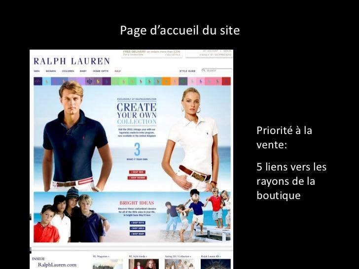 Page d'accueil du site Priorité à la vente:  5 liens vers les rayons de la boutique