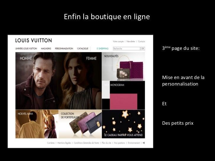 Enfin la boutique en ligne  3 ème  page du site: Mise en avant de la personnalisation Et  Des petits prix