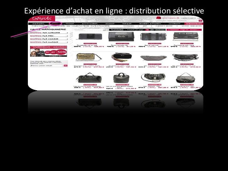 Expérience d'achat en ligne : distribution sélective