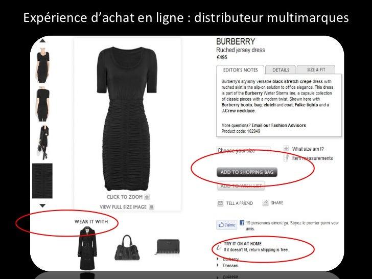 Expérience d'achat en ligne : distributeur multimarques
