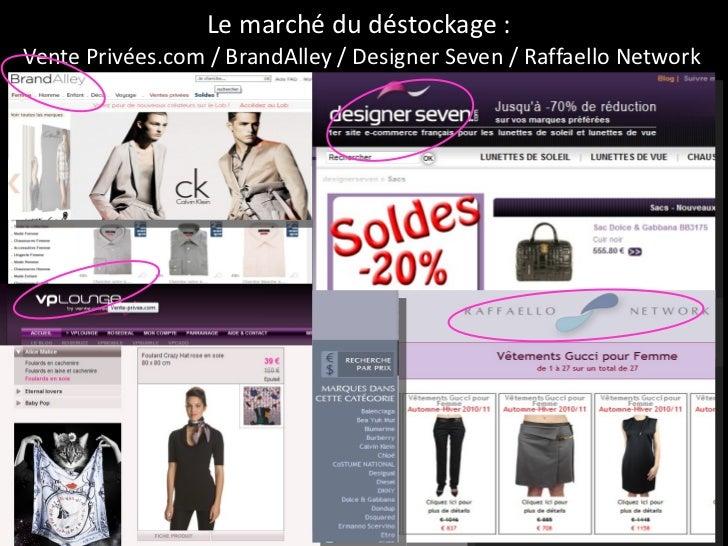 Le marché du déstockage :  Vente Privées.com / BrandAlley / Designer Seven / Raffaello Network