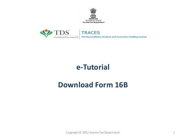 Tds Form 16b Pdf