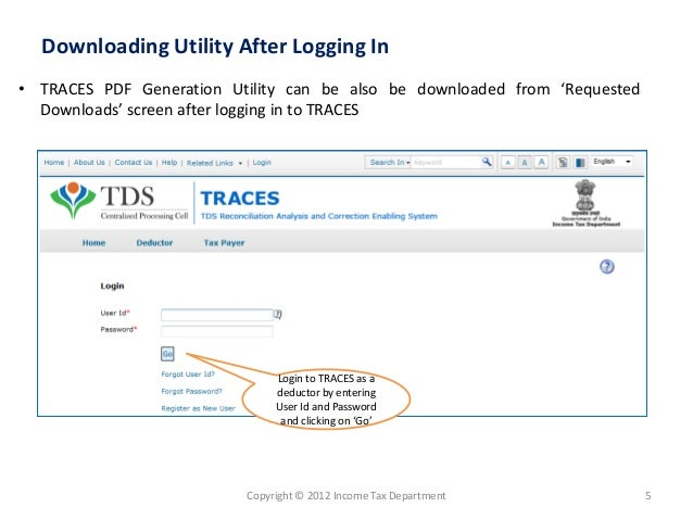 How To Traces Pdf Generation Utility