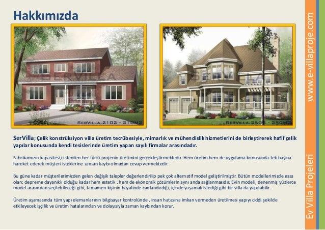 Ev Villa Projeleri Katalogu, Çelik Villa, Çelik Ev, Amerikan Villa Slide 2