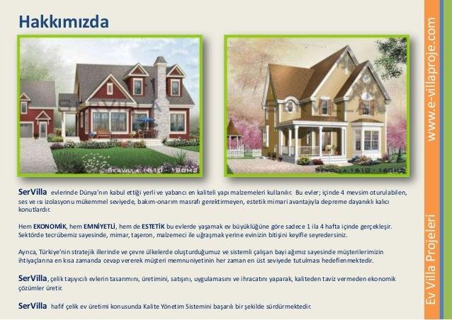 Ev Villa Projeleri Katalogu, Çelik Villa, Çelik Ev, Amerikan Villa Slide 3