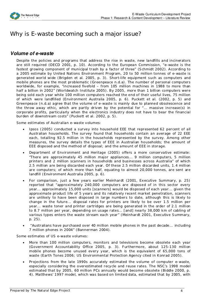 e waste literature review final e waste