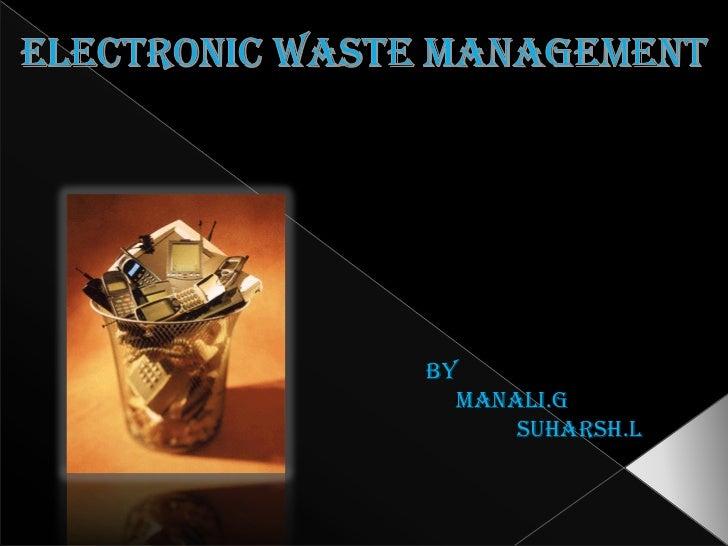 e waste management precast concrete block forms e waste management by manali g suharsh