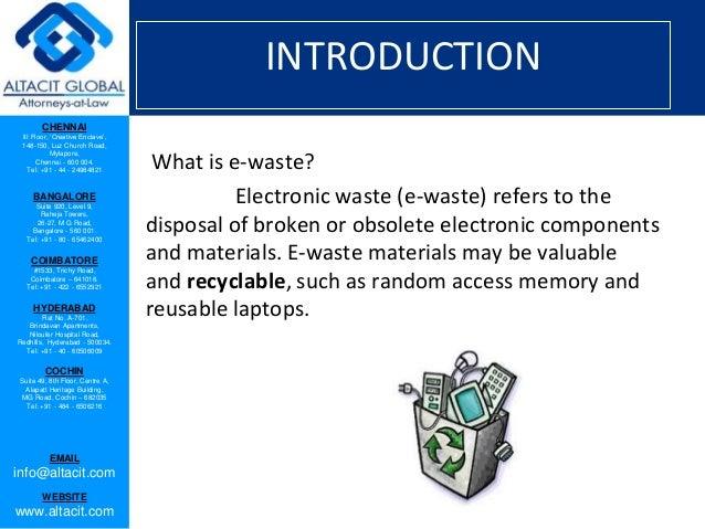 E  waste management and handling rules, 2011 Slide 2