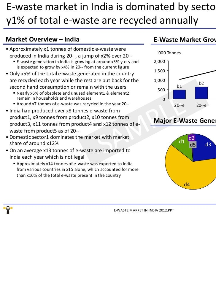 "e waste market in india Management market in india 2018 "" the report deeply examines the underlying opportunites, associated the report deeply examines the underlying opportunites, associated economies of scale, market trends , challenges and future outlook of waste to energy and waste management."