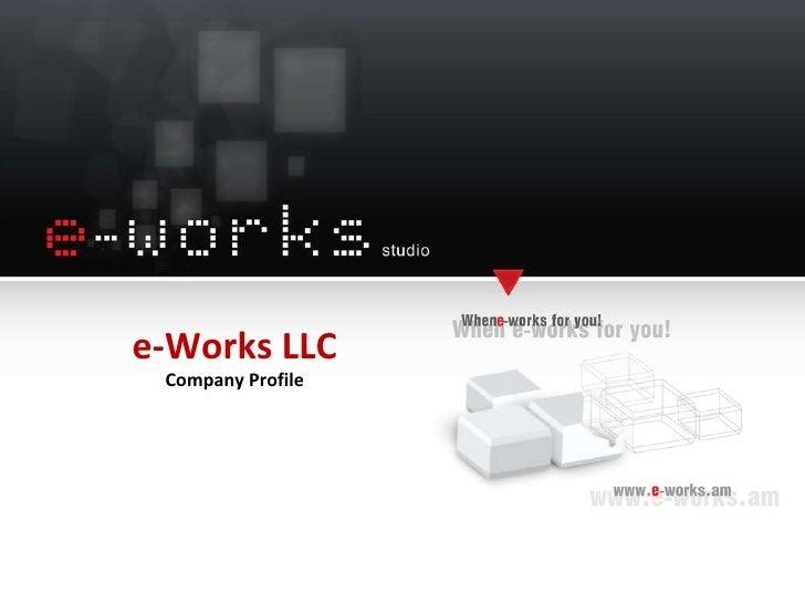 e-Works LLC Company Profile