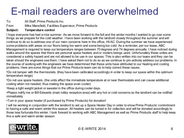 Good Morning All In An Email : E write six easy ways to improve your email writing skills