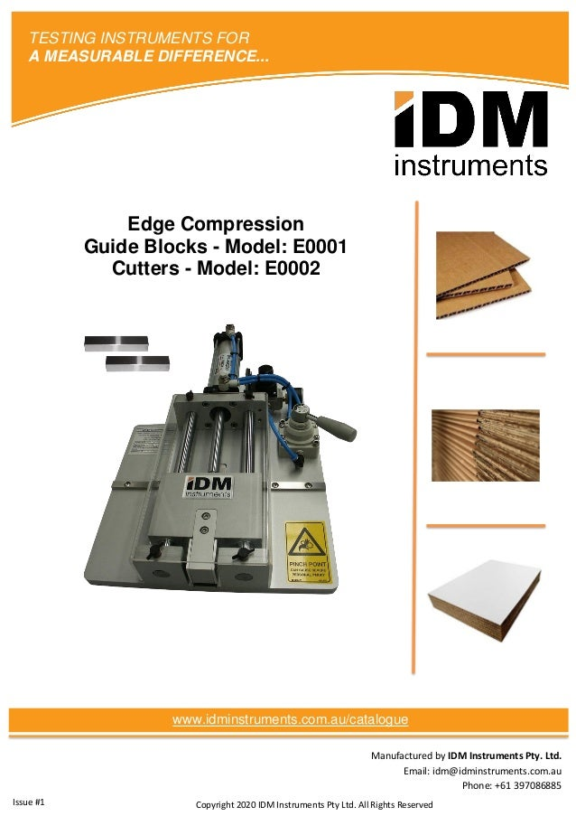 Manufactured by IDM Instruments Pty. Ltd. Email: idm@idminstruments.com.au Phone: +61 397086885 Edge Compression Guide Blo...