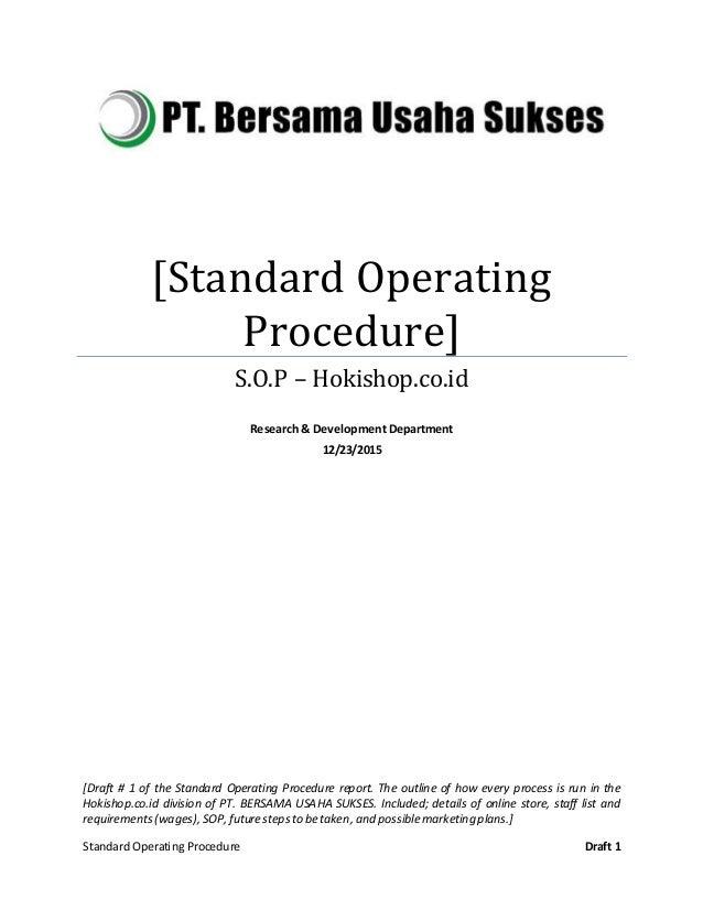 army standard operating procedure manual
